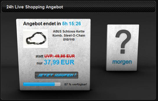 Live Shopping Tagesangebot