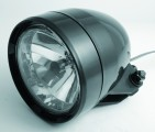 ABS headlight, black, 12V 35/35W, E-marked - Headlamps
