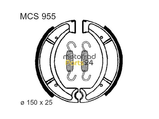 bremsbacken lucas mcs955 mp24 yamaha xc 180 - xt 500