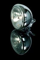 Scheinwerfer Chrom 7 Zoll Harley, klares Glas