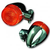 Blinker BULLET LIGHT, Aluminium verchromt, E-gepr.