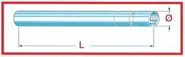 Gabelstandrohr Honda CBR 1100 XX, 97 98, D=43mm L=630mm