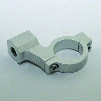 CNC-Spiegelschelle, silber, f. 1 Zoll Lenker, M10