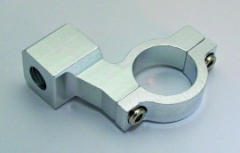 CNC-Spiegelschelle, silber, f. 7/8 Zoll Lenker