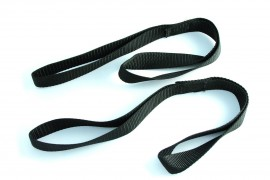 Doppelschlaufe, Nylon, schwarz, Paar