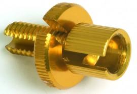 Einstellschraube gold eloxiert, M8 x 1,25