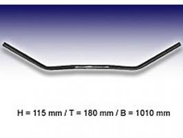 Lenker Flyer-Bar Large 1 Zoll, B:101 cm, Kerbe, schwarz