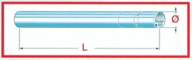 Gabelstandrohr Yamaha FZR 600 ´91, D=38mm L=644mm