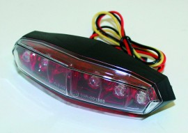 KOSO Mini Rücklicht LED rot + klar, E-gepr.