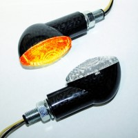 Blinker LED CAT EYE, Carbonlook, kurz, E-gepr.