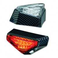 Blinker LED MODENA, Carbonlook, transparent, E-gep