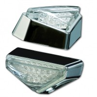 Blinker LED MODENA, verchromt, transparent, E-gepr