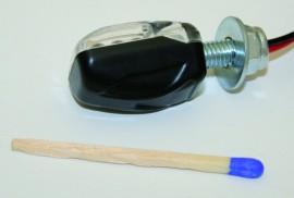 Blinker LED PICCO, schwarz, E-gepr., Paar