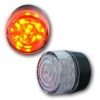 Blinker LED, BULLET, rund, o. Geh., E-gepr. Paar
