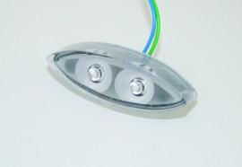 Mini Rücklicht LED TWIN, E-gepr.