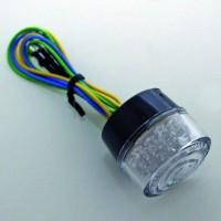 Rücklicht LED BULLET, Einsatz, transpar, E-gepr