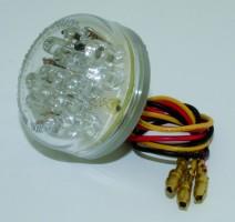 Rücklicht LED DISC, Klarglas, E-gepr.