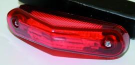 Rücklicht LED rotes Glas, E-gepr.