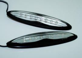 LED-Seitenmarkierungslicht, lang,schwarz, Klarglas