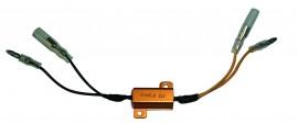 Leistungswiderstand 25 W- 6,8 Ohm mit Kabel, Paar