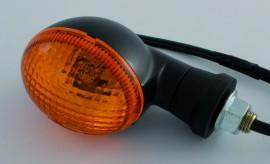 Mini-Blinker oval schwarz, kurz, E-gepr. Paar