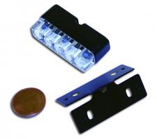 Mini-LED-Nummernschildbeleuchtung,schwarz, E-gepr.