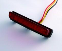 Mini-Rücklicht LED rotes Glas, E-gepr.