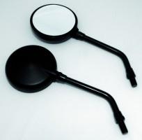 Mini-Spiegel rund, innenverstellbar, schwarz, Paar