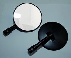 Spiegel für Lenkerende, rund, schwarz, Paar, E-gepr.