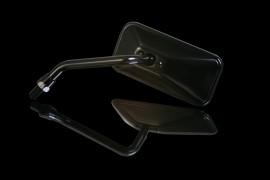 Spiegel schwarz, rechteckig, links, kurz
