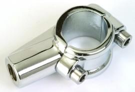 Spiegelschelle, verchromt, mit 10mm Rechtsgewinde