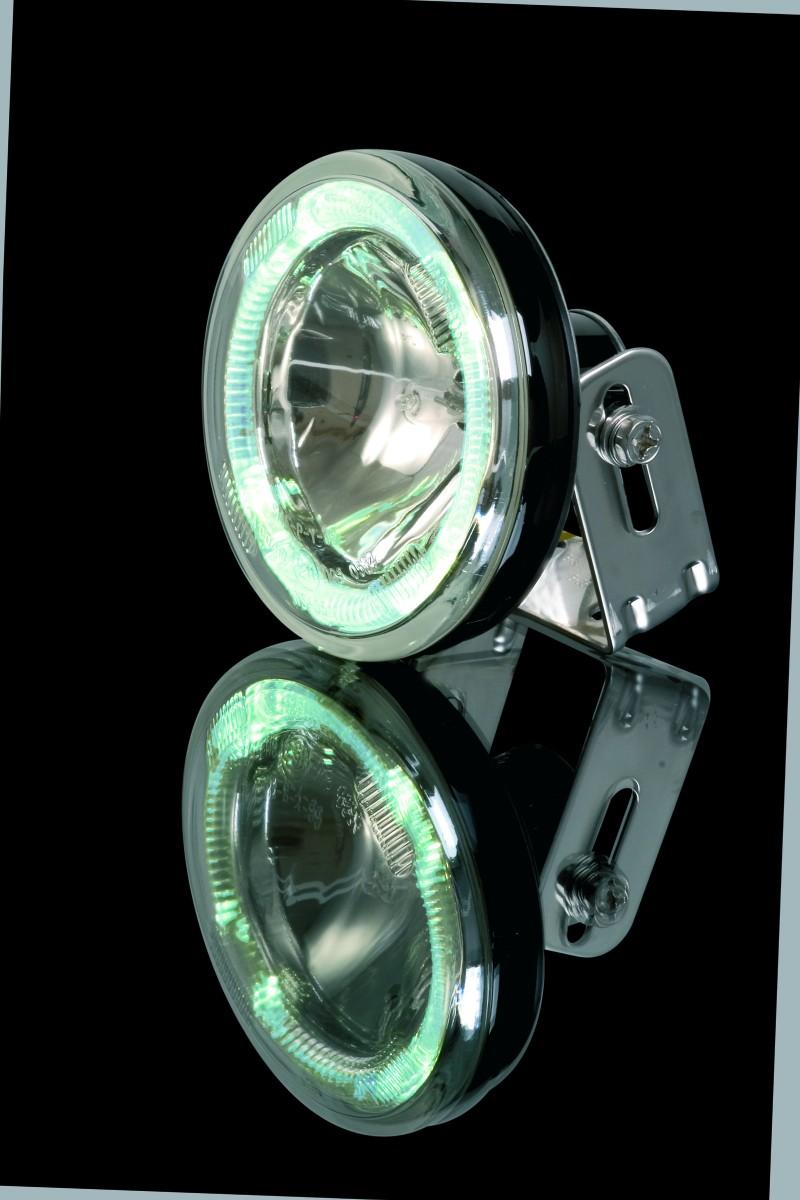 fernscheinwerfer rund mit led standlichtring beleuchtung. Black Bedroom Furniture Sets. Home Design Ideas