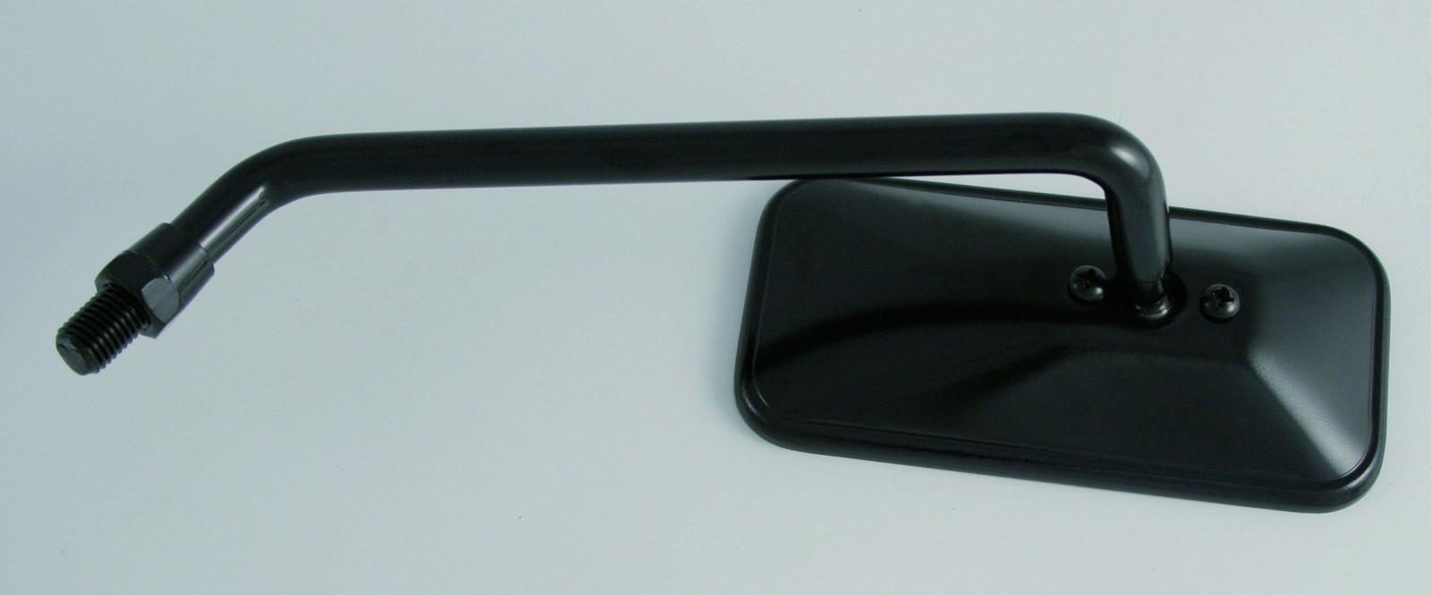 Spiegel schwarz rechteckig links lang zubeh rteile spiegel for Spiegel lang